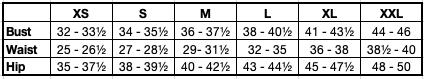Maddison Size Chart