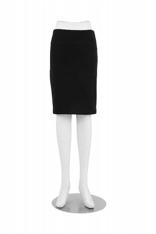 Patti Pencil Skirt Black Front View
