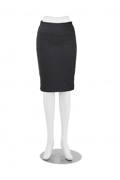 Patti Pencil Skirt Charcoal Front View