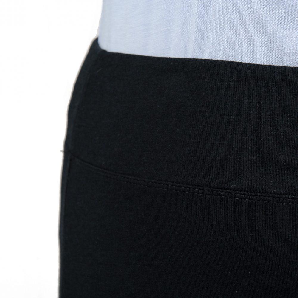 Patii Pencil Skirt - Midnight Black - Wide Waistband