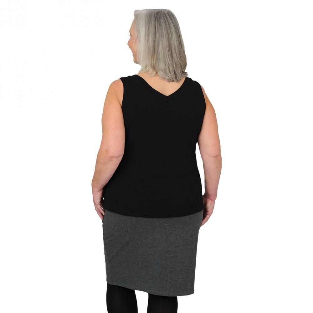 Patti Pencil Skirt - Charcoal Grey