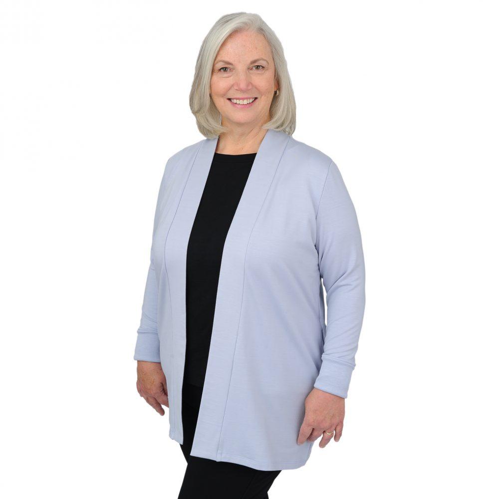 Patricia Square Cardigan - Silky Blue