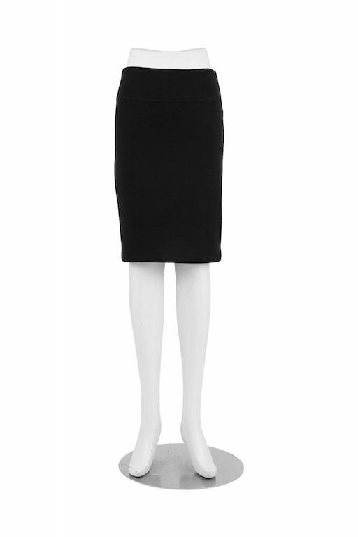Black Patti Pencil Skirt