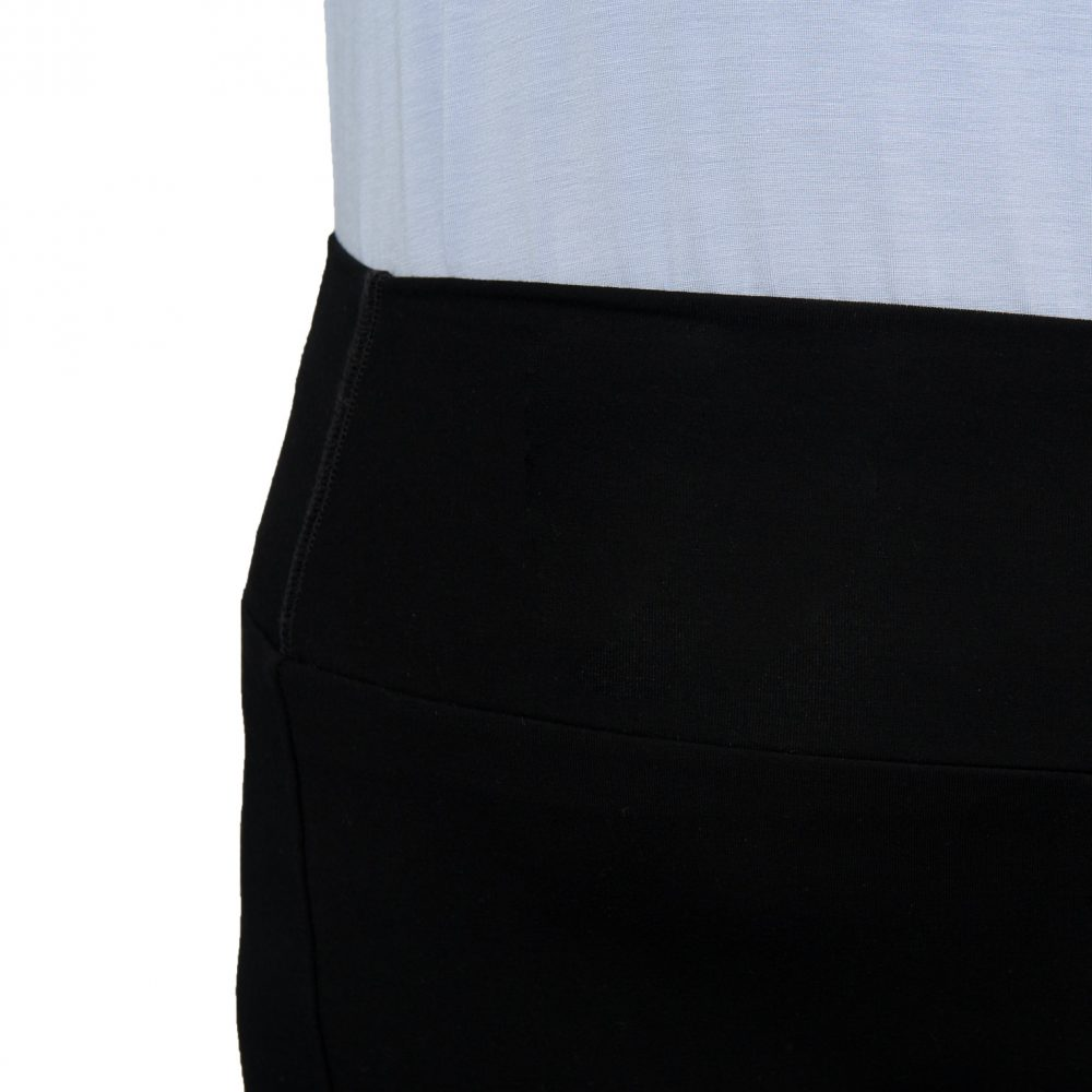 Joan Trouser - Midnight Black - Wide Waistband