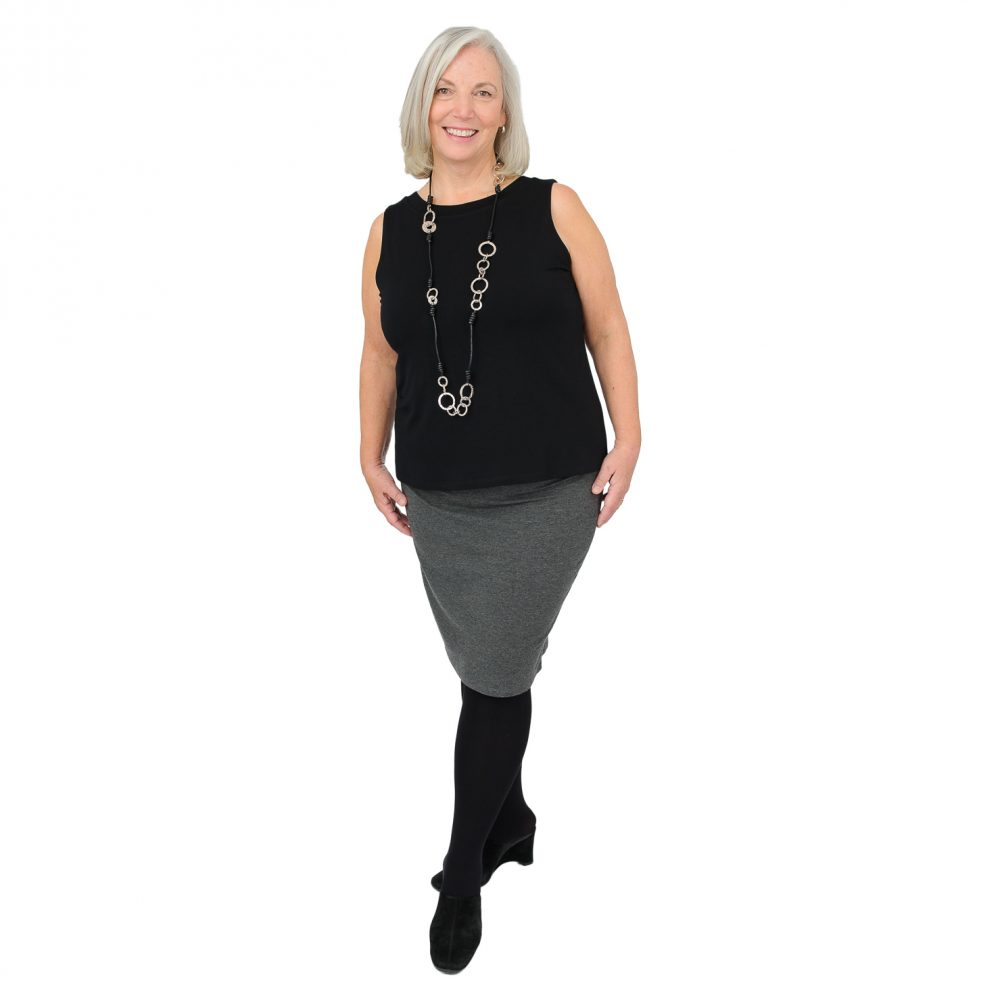 Heidi in Charcoal Grey Patti Pencil Skirt