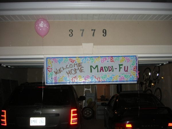 Welcome Home Maddi-Fu