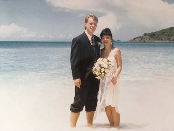 Our wedding on the beach of Antigua