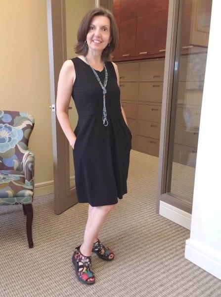 Raquel in the Carolyn dress