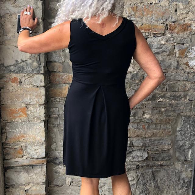 Carolyn Reversible Bamboo Dress in Black