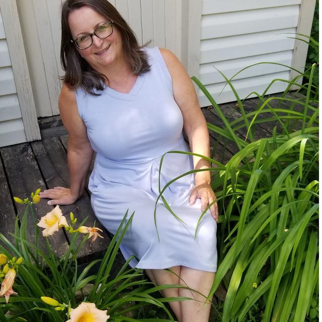 Carolyn Reversible Bamboo Dress in Silky Blue
