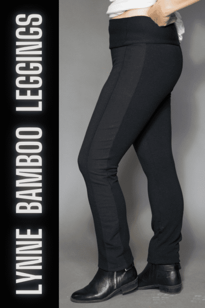 Black bamboo Lynne leggings in Size 1