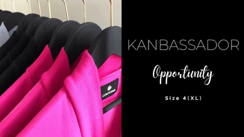 COKANNA Kanbassador opportunity in Size 4(XL)