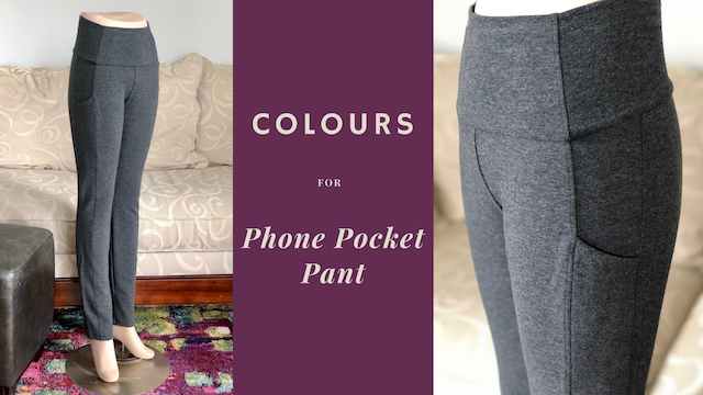 Colours for the phone pocket pant