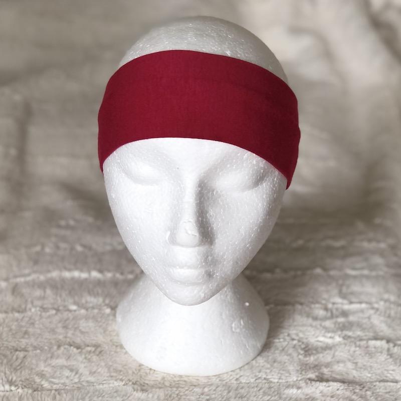 Bamboo headband in raspberry