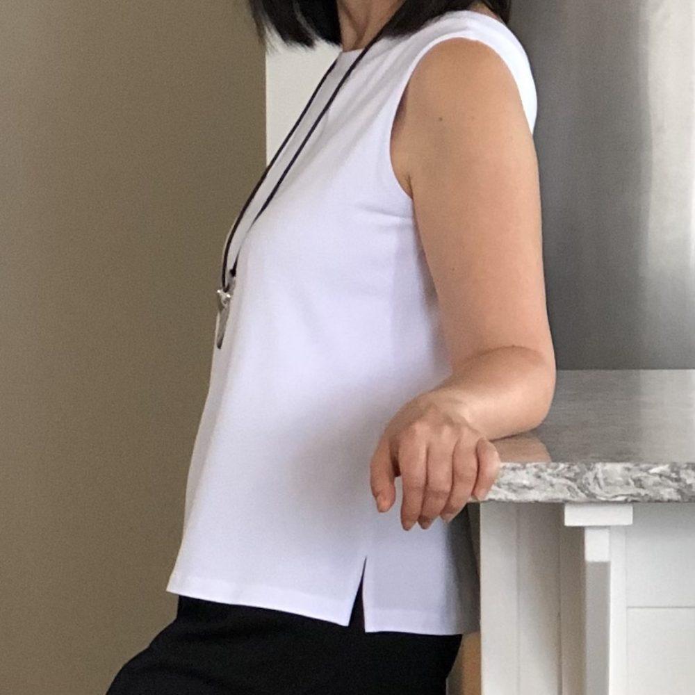 Maxine reversible tank top in white