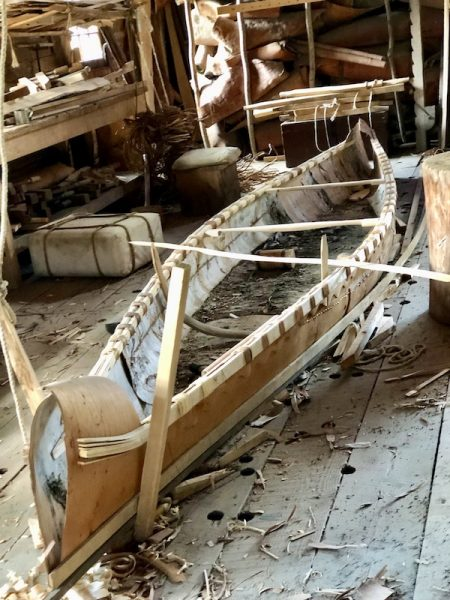 A Visit to Old Fort William by Colleen Kanna, Photo of birchbark canoe