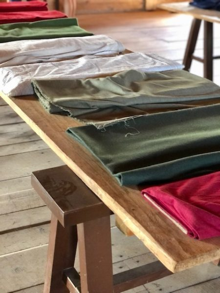 A visit to Old Fort William by Colleen Kanna, Photo of fabric available in 1816