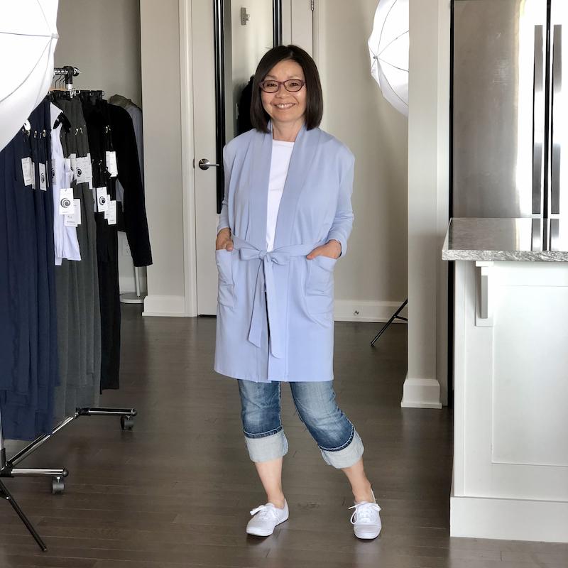 Lindsay Bamboo Cardi-Robe in Silky Blue