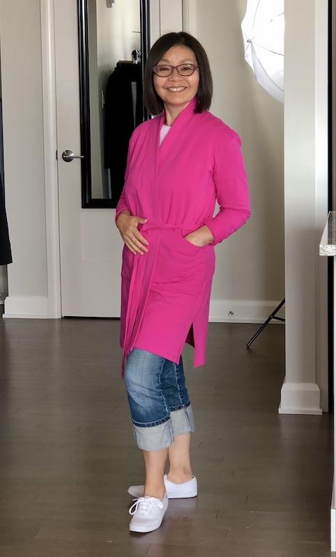 Lindsay Bamboo Cardi-robe in Fiery Fuchsia