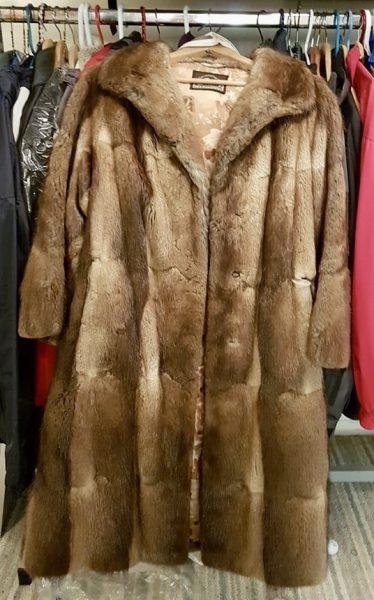 Margo's grandmother's fur coat